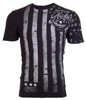 ARCHAIC by AFFLICTION Mens T-Shirt NATION American Customs USA FLAG Biker $40 a