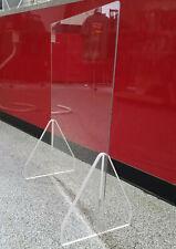 Sneeze Guard Acrylic Plexiglass Table Counter Shield 32Wx24H Opening 12W x 4H
