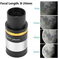 "8 to 24mm 1.25"" Zoom Eyepiece Multi Coated Lens for Telescope Astronomical"