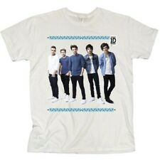 One Direction Ladies Tee: College Wreath with Skinny Fitting