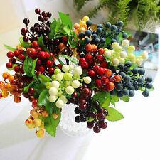 Bouquet de feuille de fleur de soie de baies artificielles