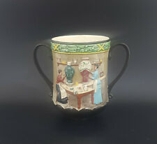 More details for royal doulton pottery in the past loving cup d6696