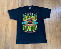 Minnesota North Stars Vintage 90's Single Stitch Starter Shirt Mens L EUC NHL