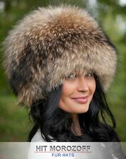 Finn RACCOON Saga Fur Winter Hat Russian Schapka Pelzmütze Fellmütze Waschbär
