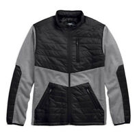 Harley-Davidson Men's Quilted Panel Bonded Fleece Jacket 97440-18VM