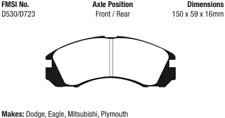 EBC Yellowstuff 4000 Brake Pad Set Front-Rear for Mitsubishi / Dodge / Plymouth