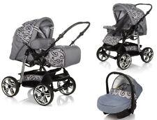 Kinderwagen Buggy Kombikinderwagen Pascal Babyschale + Isofixstation + Zubehör