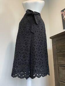 Zimmermann Size 1 Black Skirt 100% Cotton