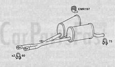 Exhaust Middle Box BMW 535 3.5 Petrol Saloon 09/2000 to 09/2003