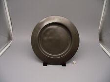 Antique 18thC London Pewter Plate 23cm