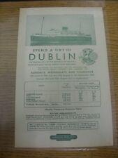 14/06/1960 Ferrovia di volantini: London Midland-passare una giornata a Dublino (da cheste