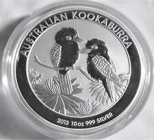 2013  10 oz Australia  Kookaburra  .999  Pure Silver Coin BU