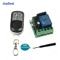 12V Wireless Relay Remote Control Switch Receiver Transmitter Garage Door Opener