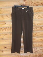 """WOMENS RED CAMEL DISTRESSED BROWN CASUAL PANTS 100% COTTON SIZE 11 INSEAM 32"""""""
