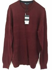 """Crew Clothing Textured Stripe Crew Neck Jumper Size Large 42"""" Chest"""