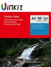 A3 Double Sides High Glossy Photo Paper Inkjet Paper 220gsm - 60 Sheets Uinkit