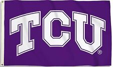 "Tcu Horned Frogs 3' x 5' Flag (""Tcu"" Logo Only on Purple) Ncaa Licensed"