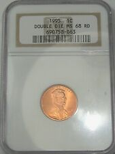 1995-w US Lincoln Penny: ERROR Double Die. MS68 RD.  #9