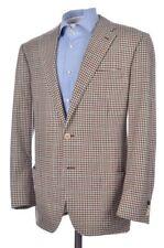 BIJAN 2016 Brown Brown Shepherd Check CASHMERE WOOL Blazer Sport Coat - 40 R