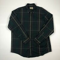 Cabelas Outfitter Series Mens Button Down Plaid Flannel Long Sleeve Shirt Sz XL