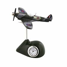 SPITFIRE Plane Miniature Desk Clock Collectable Gift 9420