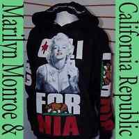 Women's Marilyn Monroe Pullover Hoodie Sweater,California Republic Poker Medium