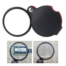 """5x Power Folding Pocket Magnifier Loupe 2"""" Real Glass Lens Magnifying Glass"""