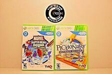 uDraw Bundle Marvel Super Hero Squad: Comic Combat & Pictionary - Xbox 360 NEW