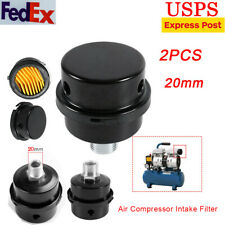 4pcs Yellow Air Compressor Silencer Muffler Filter Vacuum Cleaner Pump Equipment
