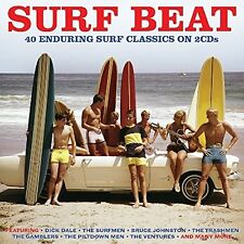 SURF BEAT 40 Enduring SURF Classics 2 CD NUOVO Dick Dale/The Hawks/The Trashmen/+