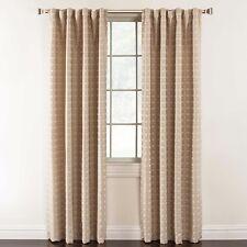 Milo 84-Inch Geometric Rod Pocket Lined Window Curtain Panel in Ivory