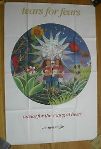 """TEARS FOR FEARS advice for the young at heart original UK promo poster 60""""x40"""""""