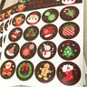 160pcs Merry Christmas Badge Sticker Envelope Seal Food Wrapping DIY Stickers