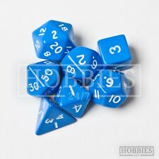 7 Poly Dice Set RPG Wargame D4 D6 D8 D10 D12 D20 D00 White Black Blue Red