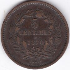 More details for 1870 luxembourg bronze 5 centimes | european coins | pennies2pounds