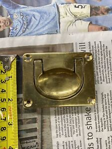 Brass Cabinet Drop Handle Solid Brass
