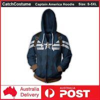 Avengers Endgame Captain America Hoodie Sweatshirt Pullover Zipper Jacket Coat