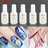 Pro 5 PCS 10g Nail Art BYB Strong Glue with Brush for Nail Tips Decoration Decor