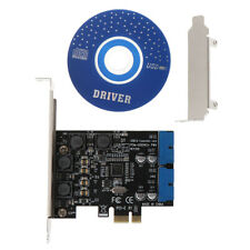 2 Port 19Pin USB 3.0 Card PCI-e to Internal 20Pin Male Ports PCI Adapter Express