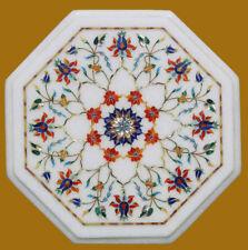 Marble Coffee Table Inlay Work Semi Precious Stone Handmade Home Furniture