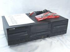kenwood kx-w4060 double cassette deck hx pro with manual RCA cable & 2 tapes