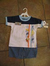 Disney Pooh & Tigger Embroidered 2-Piece Short Set size 2T - Denim Shorts