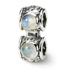 Moonstone Connector Bead .925 Sterling Silver Antique Finish Reflection Beads