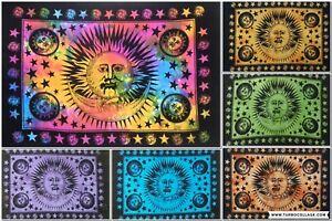 Tie Dye Indian Mandala Poster Wall Tapestry Hippie Sun Moon Stars Dorm Hangings