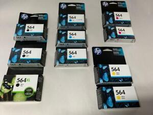 LOT OF 10X GENUINE CARTRIDGES HP 56 (2 MAGENTA, 3 CYAN, 2 YELLOW, 3 BLACK) EXP17