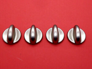 FOUR UNIVERSAL SILVER KNOB KIT FOR A OVEN/HOB/COOKER WITH INSTRUCTIONS