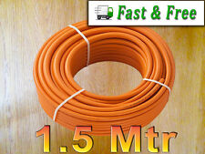 Tubo de manguera de gas LPG 1.5Mt X 9mm Orange Propano Butano calor Barbacoas Camping Caravan