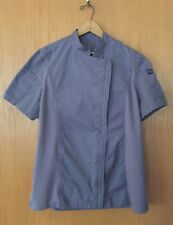 ChefWorks Women's Size Large Springfield Chef's Coat, Purple Grey, Vented