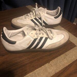 Adidas Men's 11.5 samba soccer shoes white G17102 low top sneakers