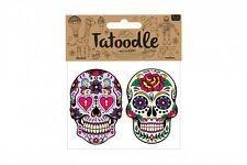 Tatoodle Mexican Sugar Skull Temporary Tattoos Pack of 2